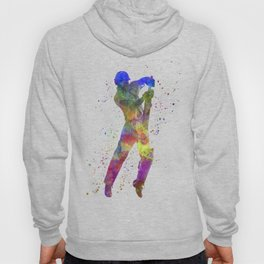 Cricket player batsman silhouette 05 Hoody
