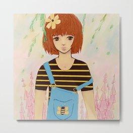 Little Bee Metal Print