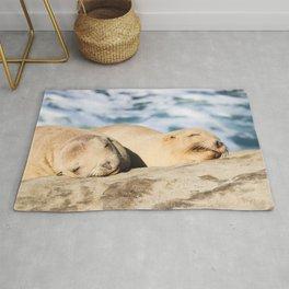 Sleepy Sea Lion Rug