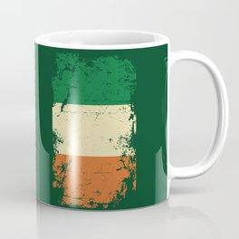 Distressed Ireland Irish Flag St Patricks Green Coffee Mug