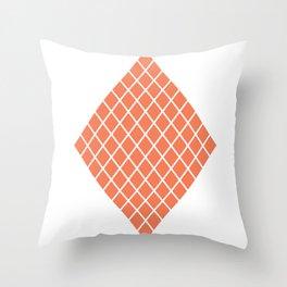 Geometric shape t-shirts & prints: Coral Diamond Rhombus (Rhom x Rhom) Multiple colours available... Throw Pillow