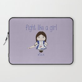Fight Like a Girl | Alice - Madness Returns Laptop Sleeve