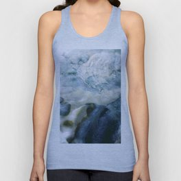 Sea Blue Abstract Unisex Tank Top