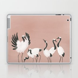 Crane Dance - Mauve Pink Laptop & iPad Skin