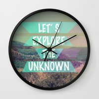 explore Wall Clocks featuring EXPLORE by AA Morgenstern