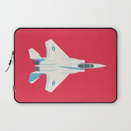 F15 Eagle Supersonic Fighter Jet Aircraft - Crimson Laptop Sleeve