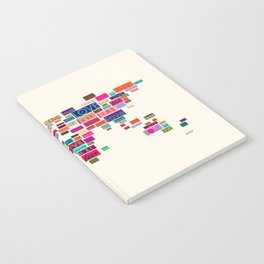 All We Need Is Love World Map Art Notebook