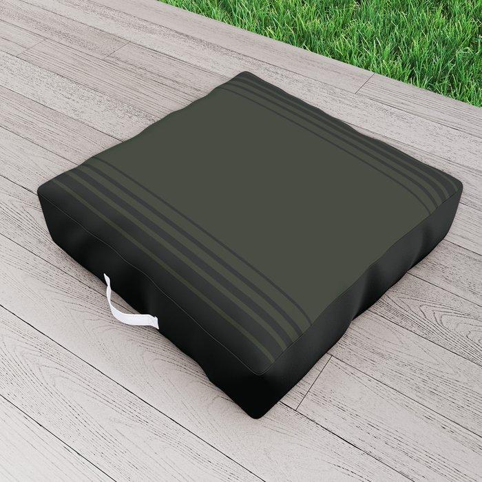 Deep Forest Horizontal Gradient Outdoor Floor Cushion