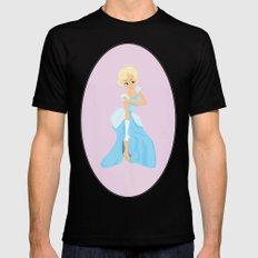 Cinderella - princess Black Mens Fitted Tee MEDIUM