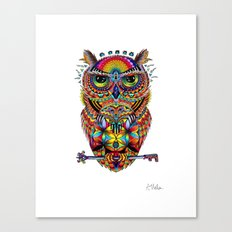 Owl of Sacred Knowledge Canvas Print