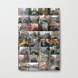 Venice Bridges Montage Metal Print
