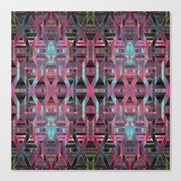 Geometric Wood Pattern G404 Canvas Print