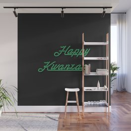 Neon Happy Kwanzaa Wall Mural