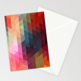 Retro Triangles  Stationery Cards