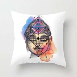 Buddha Power Throw Pillow