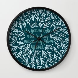 Africa - Icy Blue Palette Wall Clock
