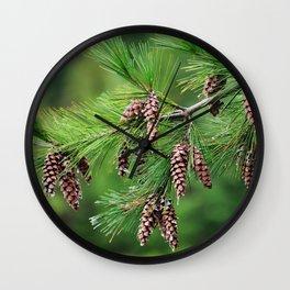 Pine cones Wall Clock