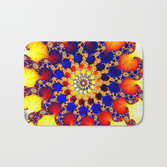 fire wheel Bath Mat