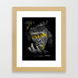 Gorila Gold Framed Art Print