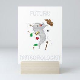 Funny Future Meteorologist Tornado & Hurricane Mini Art Print