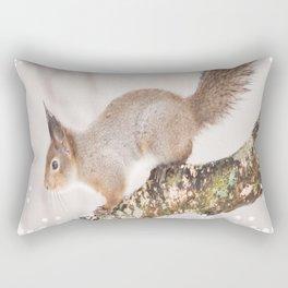 Little squirrel jumping on the branch #decor #society6 #buyart Rectangular Pillow