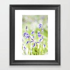 BlueBell Bokeh Framed Art Print