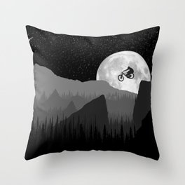 MTB Moon Throw Pillow