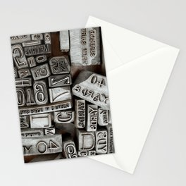 Vintage Printer Fonts Stationery Cards