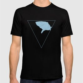 All lines lead to the...Inverted Great White Shark T-shirt