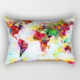 World Map - 4 Rectangular Pillow
