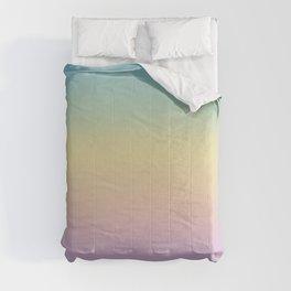 Pastel Rainbow Ombre Gradient Comforters