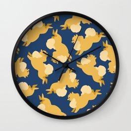 Precious Pomeranians Wall Clock
