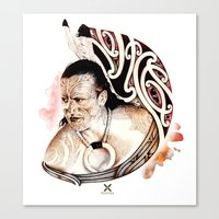 maori Canvas Prints featuring Toa Maori by iata
