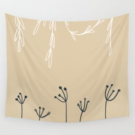 Wreathe & Flowers Wall Tapestry