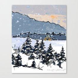 Winter Montains Canvas Print