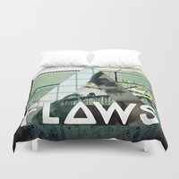 bastille Duvet Covers featuring Bastille - Flaws by Thafrayer