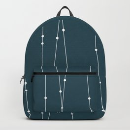 Contemporary Intersecting Vertical Lines in Aqua Backpack