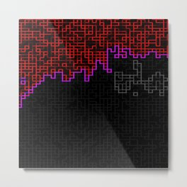 Bleeding Pixels 2 Metal Print