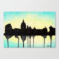rome Canvas Prints featuring Rome by Paint the Moment