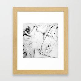 Elegant white marble image Framed Art Print