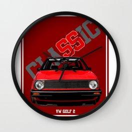 Classic Car Golf 2 Wall Clock