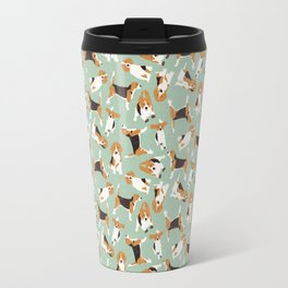 beagle scatter mint Travel Mug