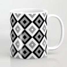 Gray White and Black Diamonds Mug