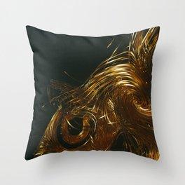 NU_GOLD Throw Pillow