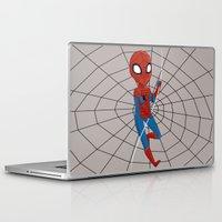 spider man Laptop & iPad Skins featuring Spider-Man by Nozubozu