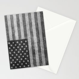 American flag - retro style in grayscale Stationery Cards