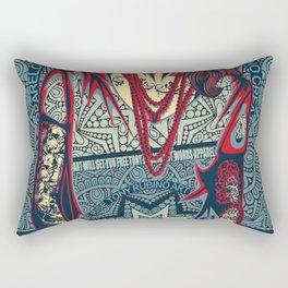 Rubino Red Lady Rectangular Pillow