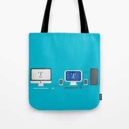 Apple iMac + PC Tote Bag