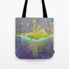 Aeolus 's flying island Tote Bag