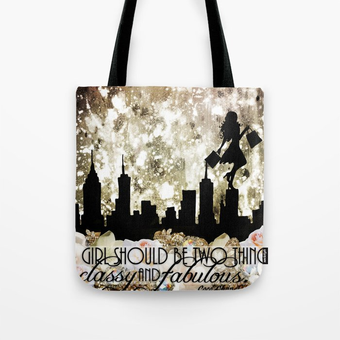 Classy and Fabulous Tote Bag